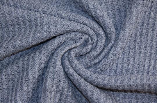 Grobstrick Waffel Vintage Style *rauchblau* *brandneu* - Baumwollstrick