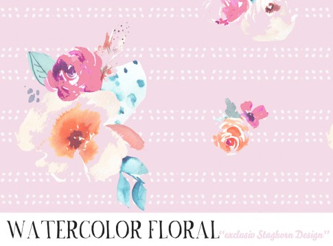 *Watercolor Floral* Bio Jersey *Ballon Girls Serie*