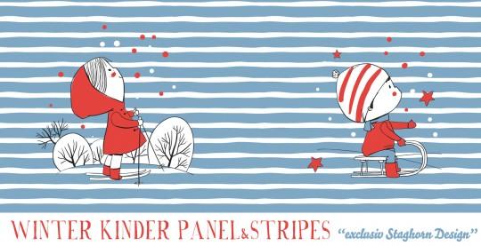 *Winter Kinder* Panel Bio-Sweat blue red