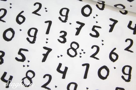 Zahlen Jersey weiß *Numbers* Jersey - Oeketex - elastisch - Stenzo